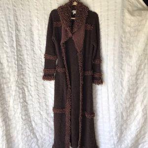 Halukoko maxi buckle boho cardigan coat Sz S-M